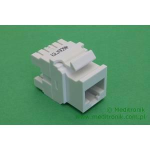 Molex moduł keystone gniazdo RJ45 UTP kat.6 poziome biały