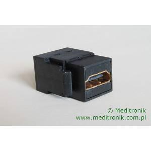 Moduł keystone gniazdo HDMI na gniazdo HDMI kolor czarny