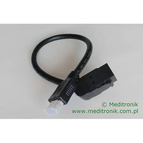 Moduł keystone gniazdo kąt 45 HDMI na wtyk HDMI na kablu