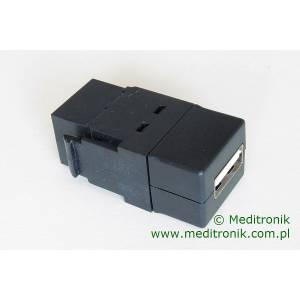 Moduł keystone USB 2.0 gniazdo A na gniazdo A kolor czarny
