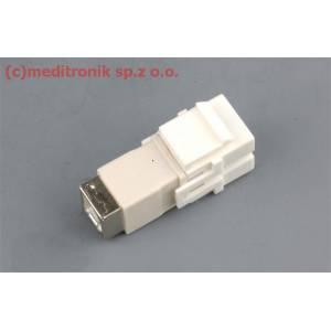 Moduł keystone USB gniazdo B na gniazdo B kolor biały