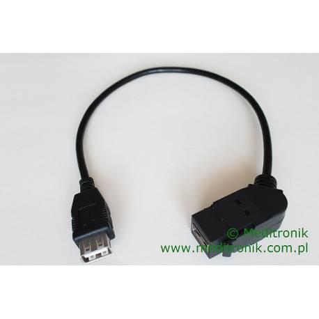 Moduł keystone USB 2.0 gniazdo kąt 45 A / gniazdo A na kablu