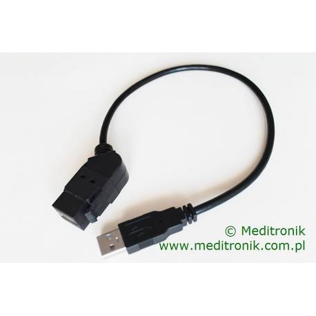 Moduł keystone USB 2.0 gniazdo kąt 45 A / wtyk A na kablu