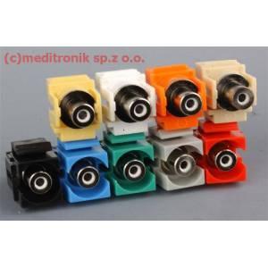 Moduł keystone RCA gniazdo na gniazdo różne kolory