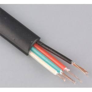 Kabel telefoniczny płaski 4-żyłowy czarny rolka 100m