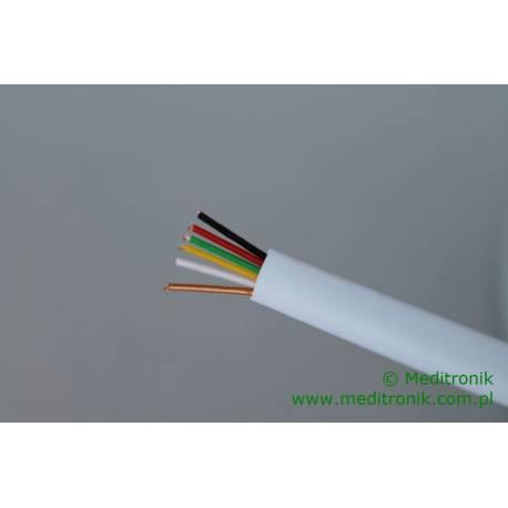 Kabel telefoniczny płaski 6-żyłowy 100% miedziany biały