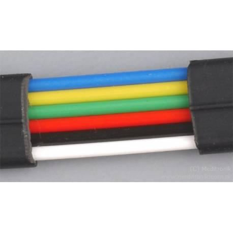 Kabel telefoniczny płaski 6-żyłowy czarny
