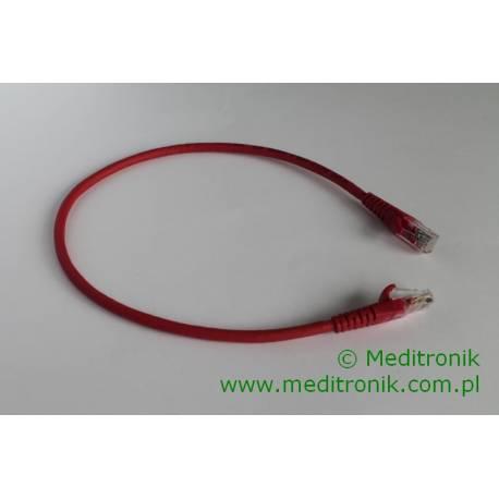 Patchcord UTP kat.6 LSOH dł.0,5m czerwony