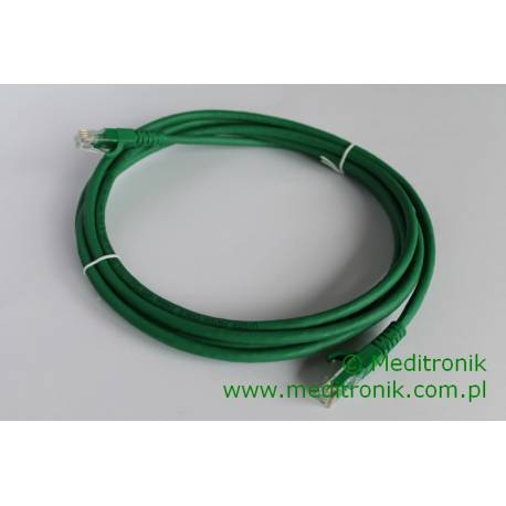 Patchcord UTP kat.6 LSOH dł.3m zielony