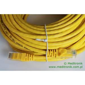 Patchcord UTP kat.6 dł.20m żółty