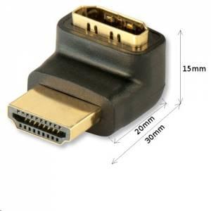 Adapter kątowy HDMI wtyk/gniazdo