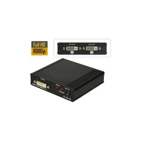 Rozdzielacz sygnału DVI-D jedno wejście 2 wyjścia