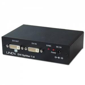 Rozdzielacz sygnału DVI-D jedno wejście 4 wyjścia