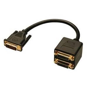 Pasywny splitter sygnału DVI-D wtyk/2x gniazdo