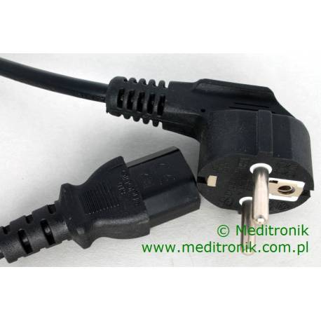 Kabel zasilający długość 0,5m wtyk Schuko na gniazdo IEC C13