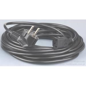 Kabel zasilający długość 10m wtyk Schuko na gniazdo IEC C13
