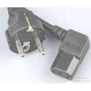Kabel zasilający dł 2m wtyk Schuko na gniazdo IEC C13 kątowe