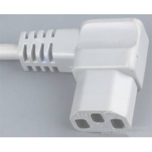 Kabel zasilający dł 2,5m wtyk Schuko na gniazdo IEC C13 kąt