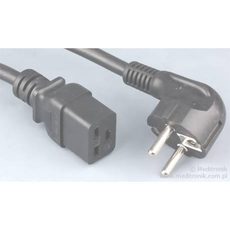 Kabel zasilający długość 3m wtyk Schuko na gniazdo IEC C19