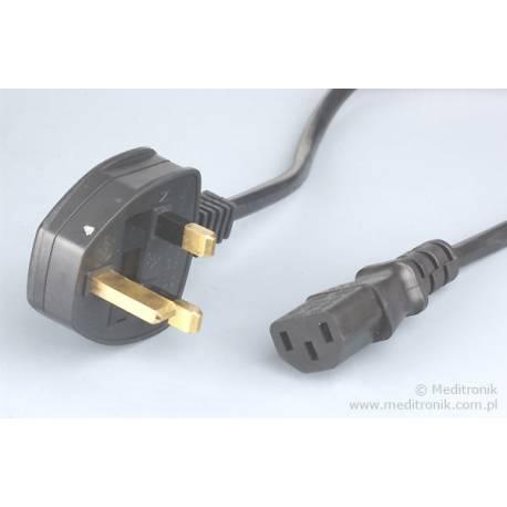 Kabel zasilający angielski złacze BS1363 na C13 długość 2m