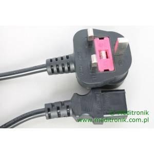 Kabel zasilający angielski złacze BS1363 na C13 długość 3m