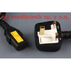 Kabel zasilający angielski złacze BS1363/C13-V długość 1,5m