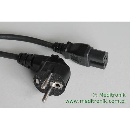 Kabel zasilający dłutgość 1,8m złącze Schuko kątowe na C15