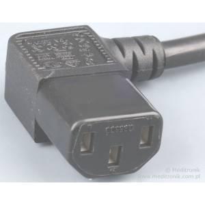 Przedłużacz kabla zasilającego złącza C13 kąt./ C14 dł. 2m