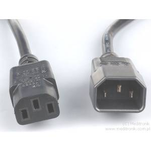 Przedłużacz kabla zasilającego złącza C13 / C14 długość 3m