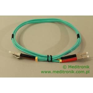 Patchcord światłowodowy LC-LC 50/125 OM3 MM duplex 1m