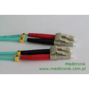 Patchcord światłowodowy LC-LC 50/125 OM3 MM duplex 25m