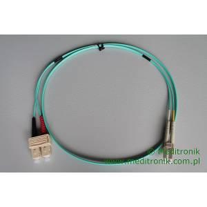 Patchcord światłowodowy LC-SC 50/125 OM3 MM duplex 1m