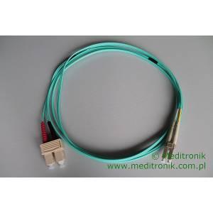 Patchcord światłowodowy LC-SC 50/125 OM3 MM duplex 2m