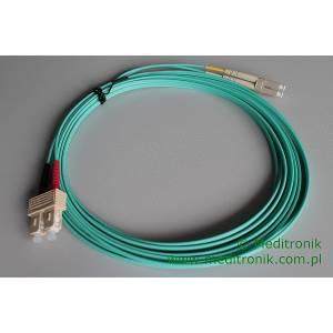 Patchcord światłowodowy LC-SC 50/125 OM3 MM duplex 5m