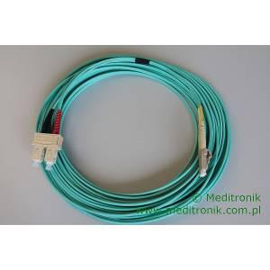 Patchcord światłowodowy LC-SC 50/125 OM3 MM duplex 10m