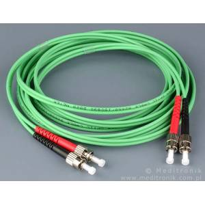 Patchcord światłowodowy ST-ST 62,5/125 MM duplex 1m PL