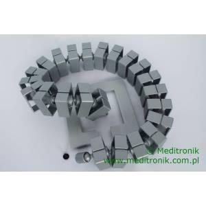 """Wąż kablowy """"Kabelschlange"""" Quadro-Set (do prowadz.kabli w pionie) srebrny (930.017)"""