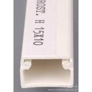 Listwa elektroinstalacyjna 15x10 długość 2m biała