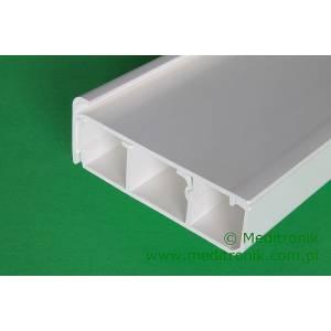 Listwa elektroinstalacyjna cokołowa PK80x25 długość 2m biała