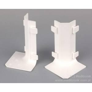 Narożnik wewnętrzny do listwy LP 80x25 biały