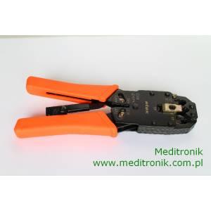 Zaciskarka ręczna czołowa do złącz RJ45 RJ12 RJ11 DEC