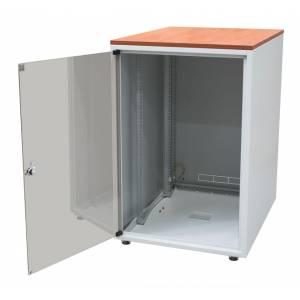 Biurowa szafka teleinformatyczna z blatem 600x600 12U