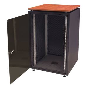 Biurowa szafka teleinformatyczna z blatem silent 600x600 18U