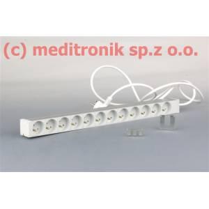 Listwa zasilająca 12 gniazd 230V kabel 3m wtyk SCHUKO