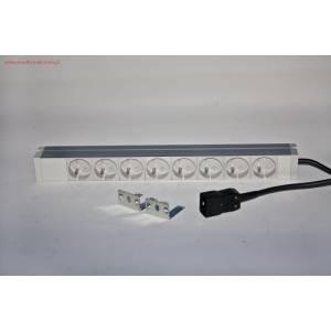 """Listwa zasilająca 19"""" 8 gniazd 230V kabel 2m wtyk C20"""