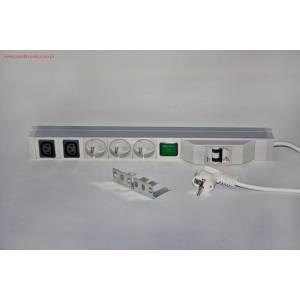 Listwa zasilająca 3 gniazda 230V 2xC13 kabel 3m wtyk SCHUKO