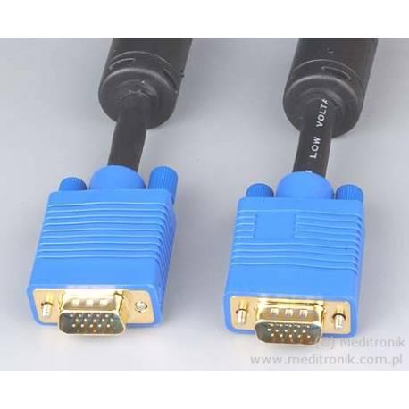 Kabel SVGA DSUB 15pin wtyk na wtyk długość 2 metry
