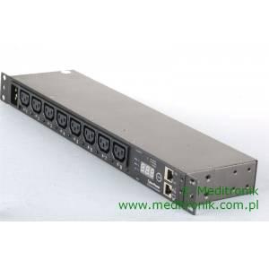 """Listwa zasilająca 19"""" IP 8 gniazd C13 kabel 2m 2 wtyk C20"""