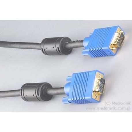 Kabel SVGA DSUB 15pin wtyk na wtyk długość 5 metrów