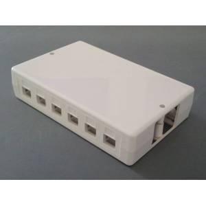 Patch panel naścienny na 6/12 modułów keystone pełna obudowa